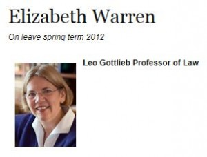 Elizabeth Warren Harvard Bio Photo